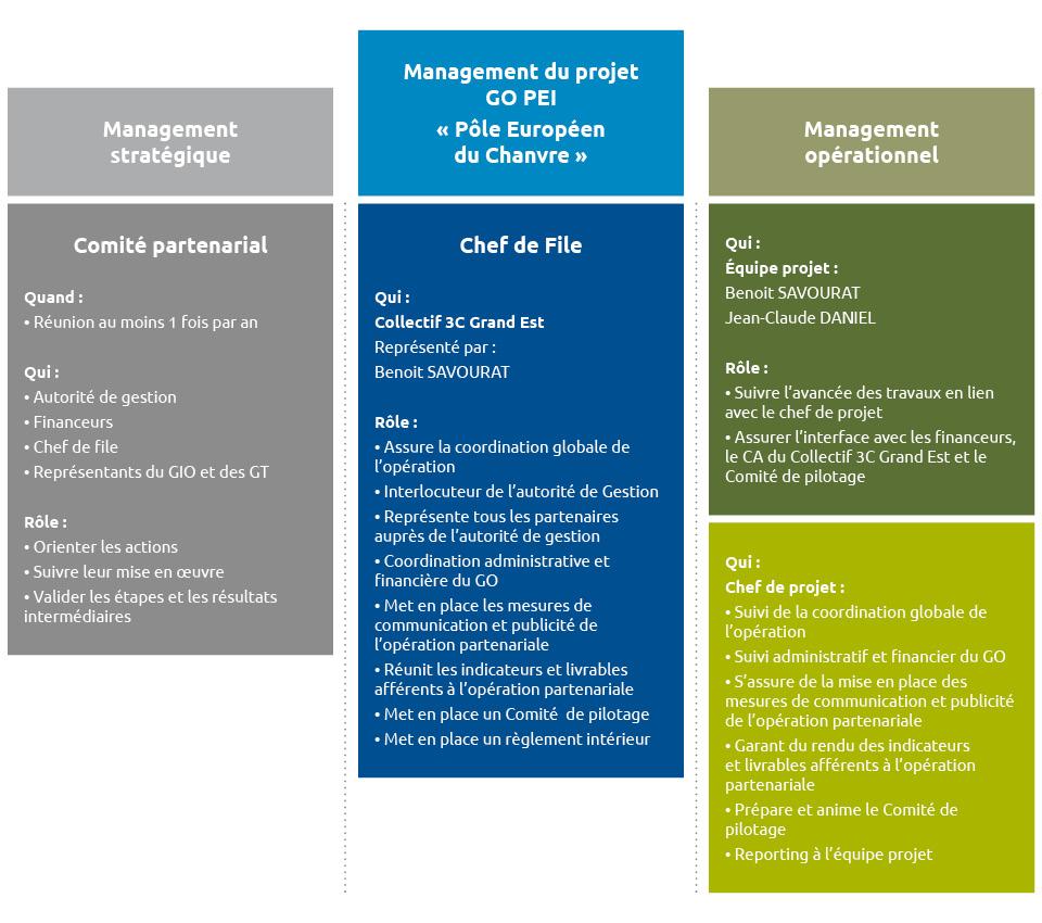 Management stratégique et opérationnel du projet