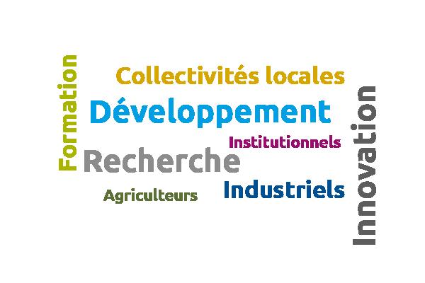 Les acteurs du projet sont les collectivités locales, développement, institutionnels, recherche, agriculteurs et industriels