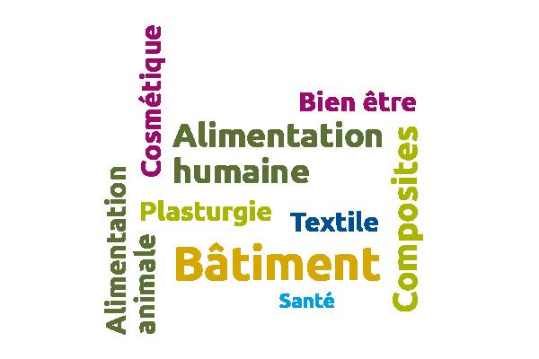 Les marchés du chanvre sont l'alimentation, la plasturgie, le bâtiment, le textile, la santé, la cosmétique et les composites