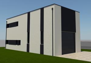 projection du bâtiment démonstrateur